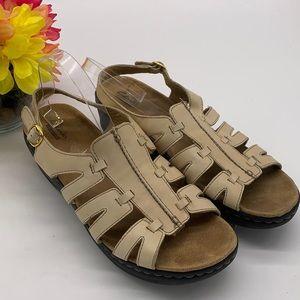 Clark's Collection Tan Leather Sandal - Sz 11